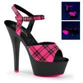 KISS-209PL Sexy sandály s růžovými svítícími pásky