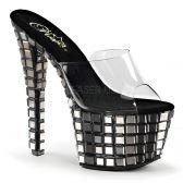 SKY-301MR Sexy pantofle s vysokým podpatkem
