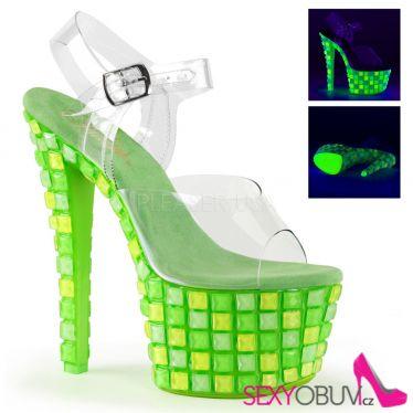 SKY-308UVTL Zelené svítící sexy boty