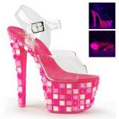 SKY-308UVTL Růžové svítící sexy boty