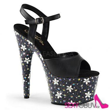 STARBLOOM-709 Sexy boty s květy na podpatku a platformě