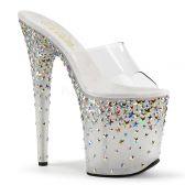 STARSPLASH-801 Sexy luxusní pantofle na vysokém podpatku