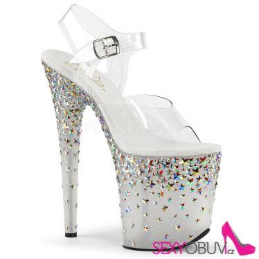 STARSPLASH-808 Luxusní boty na extra velkém podpatku a platformě