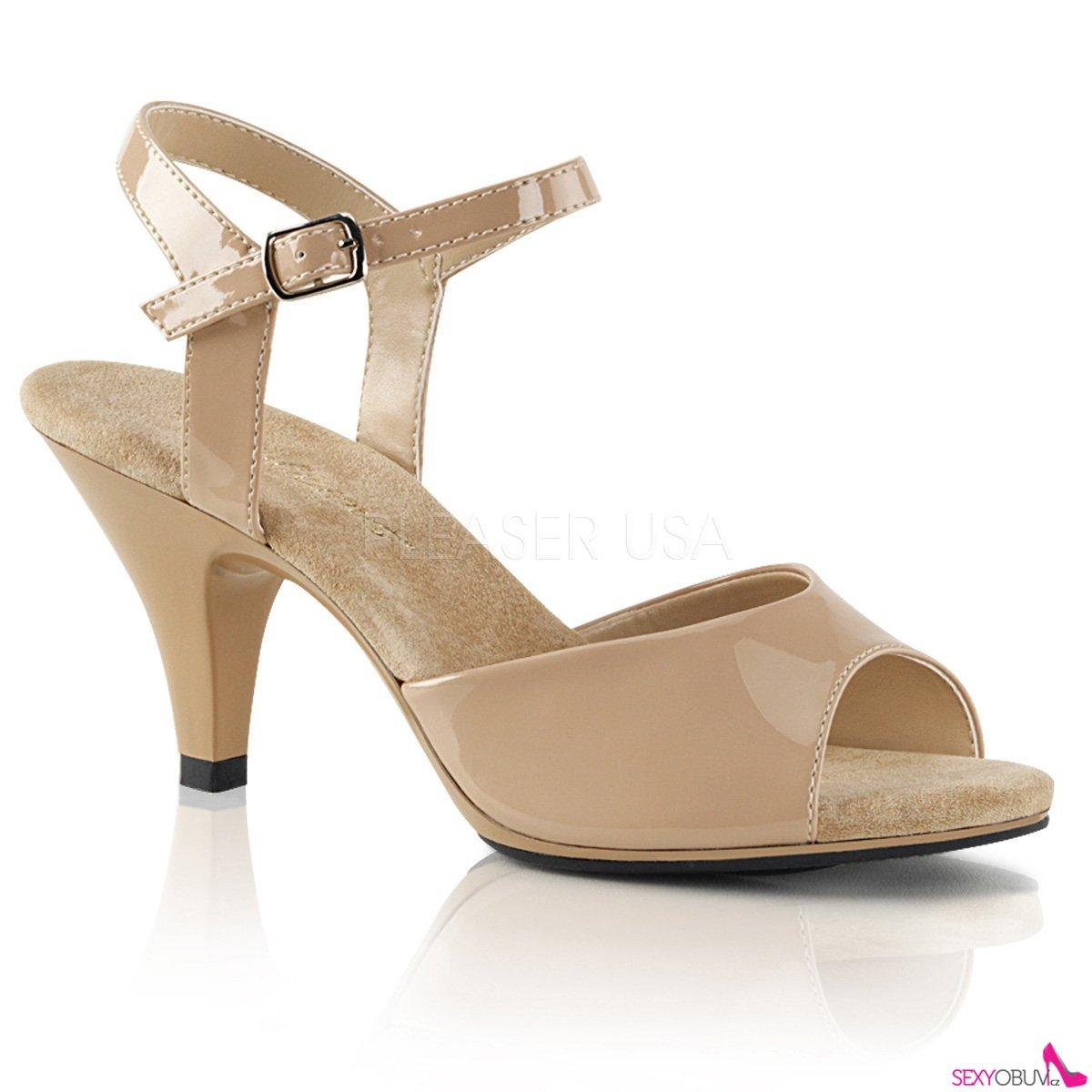 a768efb7bedee BELLE-309 Béžové sandály na nižším podpatku | sexyobuv.cz