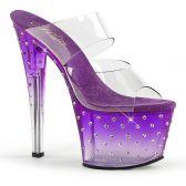 STARDUST-702T Fialové sexy pantofle