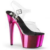 ADORE-708 Sexy tmavě růžové sandály na vysokém podpatku