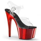 ADORE-708 Sexy červené sandály na vysokém podpatku a platformě