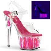 ADORE-708FLM Růžové sexy sandály na exotické tančení