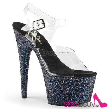 ADORE-708LG Černé taneční sexy boty na vysokém podpatku a platformě