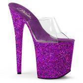 FLAMINGO-801LG Extra vysoké fialové pantofle