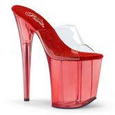FLAMINGO-801T Extra vysoké červené pantofle