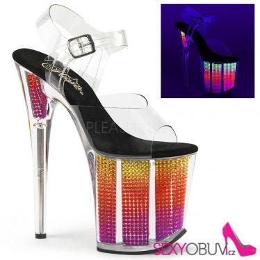 FLAMINGO-808SRS Svítící taneční sexy sandály na extra podpatku
