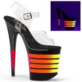 FLAMINGO-808UVLN Sexy boty se svítícími pruhy