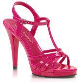 FLAIR-420 Tmavě růžové sandálky na vysokém podpatku a nízké platformě