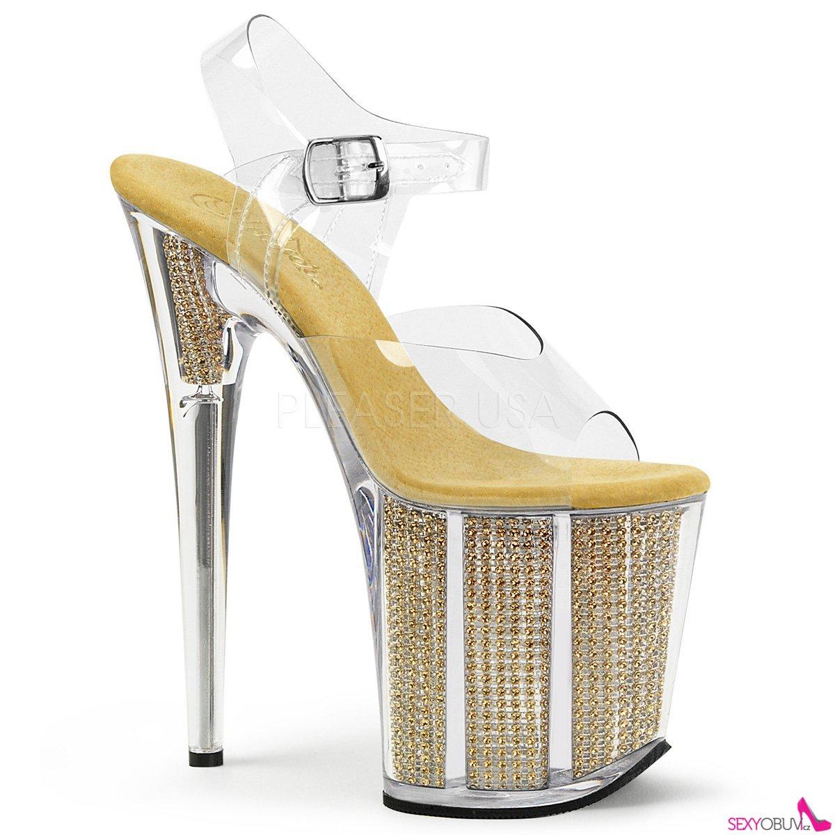 81f7b6bbcc54 FLAMINGO-808SRS Vysoké zlaté dámské sandále
