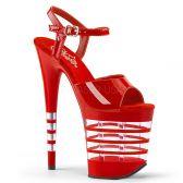 FLAMINGO-809LN Sexy červené boty na vysokém podpatku
