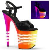 FLAMINGO-809UVLN Sexy boty se svítícím podpatkem a platformou