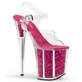 FLAMINGO-808G Růžové sexy boty na extra vysokém podpatku