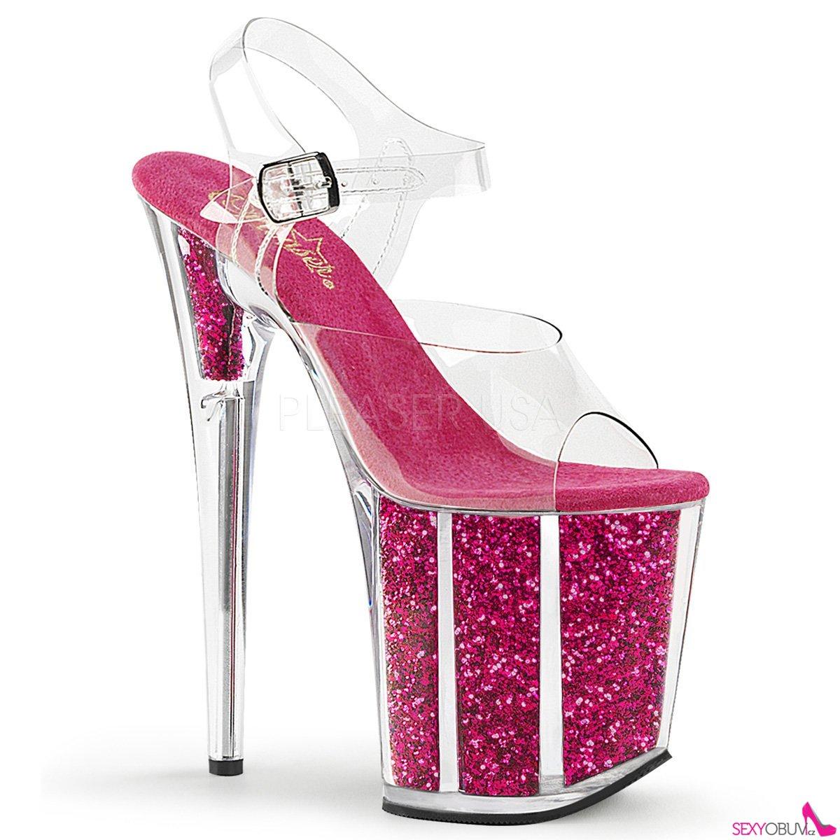 2476af8053ba FLAMINGO-808G Růžové sexy boty na extra vysokém podpatku