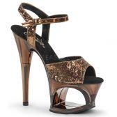 MOON-709GT Taneční bronzové sandály na vysokém podpatku