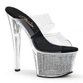 SKY-302SRS Luxusní pantofle na podpatku a platformě