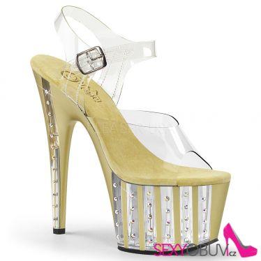 ADORE-708VLRS Luxusní zlaté sexy boty na vysokém podpatku