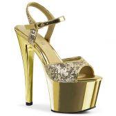 SKY-310SQ Zlaté sexy boty na vysokém podpatku