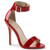 AMUSE-10 Červené sandály na jehlovém podpatku