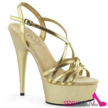 DELIGHT-613 Zlaté páskové boty