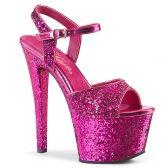 SKY-310LG Růžové sexy boty s glitry
