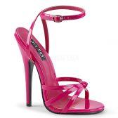 DOMINA-108 Růžové erotické sandálky na extra vysokém podpatku