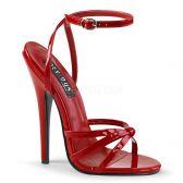 DOMINA-108 Červené erotické sandálky na extra vysokém podpatku
