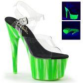 ADORE-708UVP Zelené svítící sexy boty na vysokém podpatku