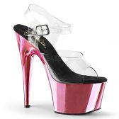 ADORE-708 Růžové sexy sandály na vysokém podpatku