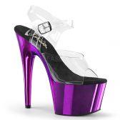 ADORE-708 Fialové sexy sandály na vysokém podpatku a platformě