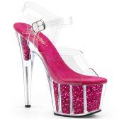 ADORE-708G Tmavě růžové striptýz sandály na vysokém podpatku