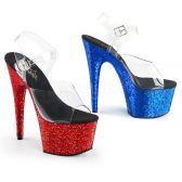 ADORE-708HQSQ Sexy boty jedna modrá druhá červená