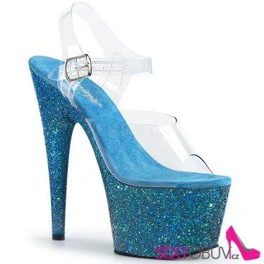 ADORE-708LG Sexy boty s modrými třpytkami ado708lg/c/aqg