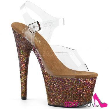ADORE-708LG Sexy boty s měděnými třpytkami ado708lg/c/copg