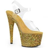 ADORE-708LG Sexy boty se zlatými třpytkami ado708lg/c/gg