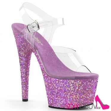 ADORE-708LG Sexy boty s levandulovými třpytkami ado708lg/c/lvg