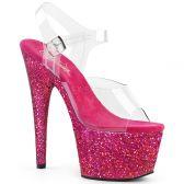 ADORE-708LG Sexy boty s červenými třpytkami ado708lg/c/rag
