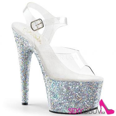 ADORE-708LG Sexy boty se stříbrnými třpytkami ado708lg/c/sg