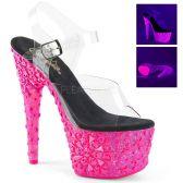 ADORE-708NSK Růžové svítící sexy boty s lebkami a kříži ado708nsk/c/hp