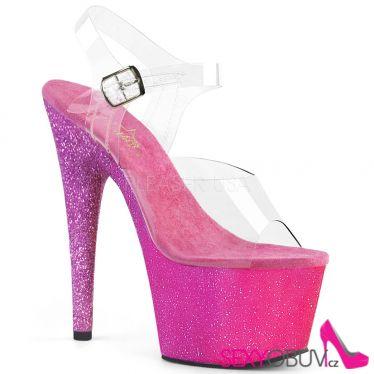 ADORE-708OMBRE Růžové třpytivé sexy boty na vysokém podpatku ado708ombre/c/pn-lv