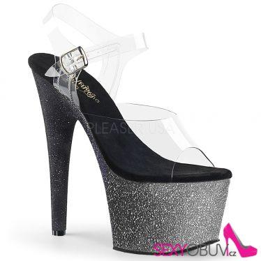 ADORE-708OMBRE Sexy boty na vysokém podpatku a platformě ado708ombre/c/s-b