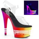 ADORE-708UVLN Svítící sexy sandály na vysokém podpatku