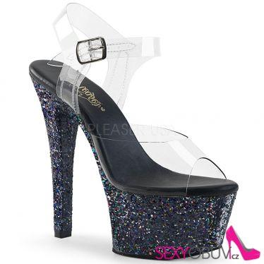 ASPIRE-608LG Černé sexy taneční sandály asp608lg/c/bg