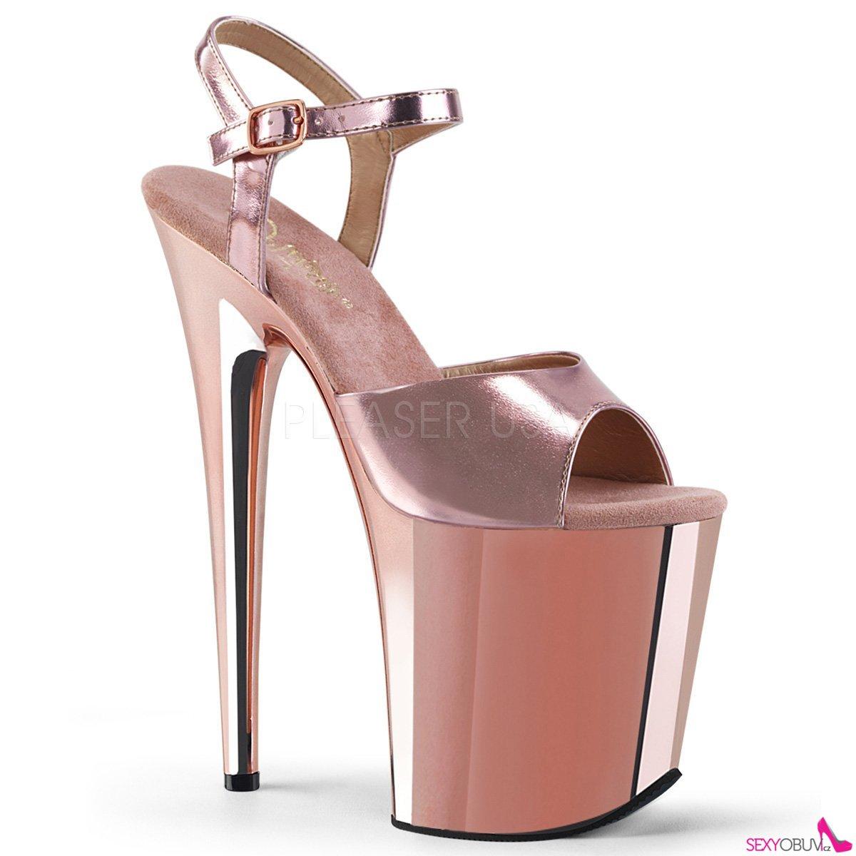 d1a12ce283b9 FLAMINGO-809 Extra vysoké sandály flam809 rogldpu m růžové zlato ...