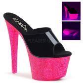 SKY-301UVG Svítící sexy růžovo-černé pantofle sky301uvg/b/nhpg